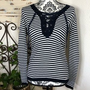 Tommy Hilfiger blue/white stripped sweater